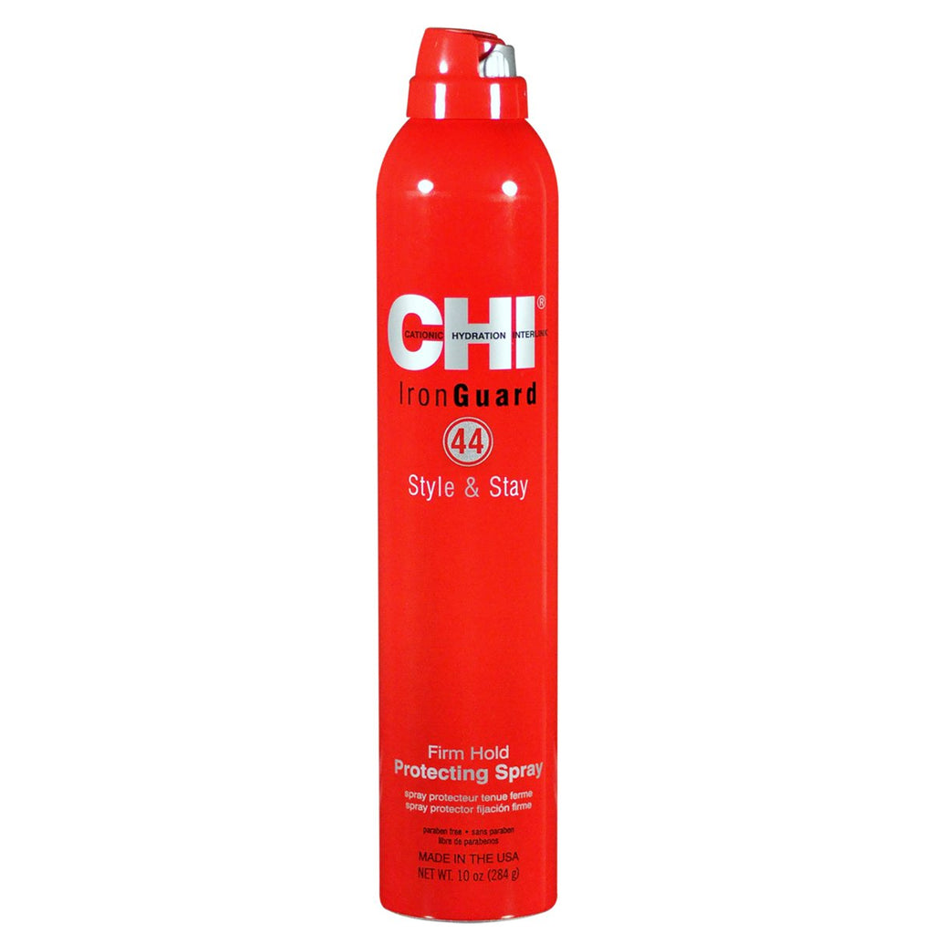 CHI Iron Guard 44 Style & Stay Firm Hold Protecting Spray 10 oz