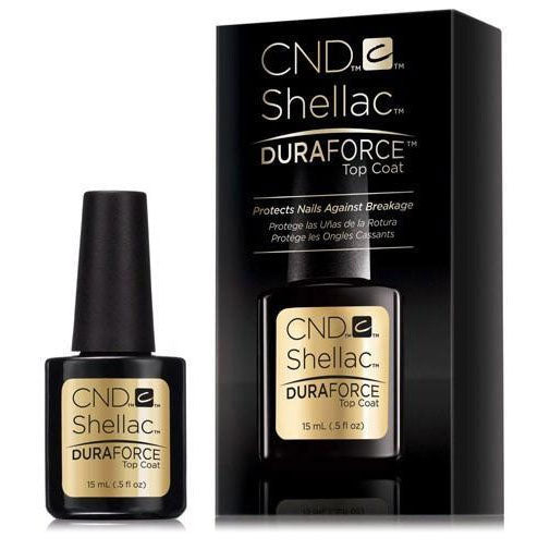 CND Shellac DuraForce Top Coat Protects Nails Against Breakage 0.5 oz