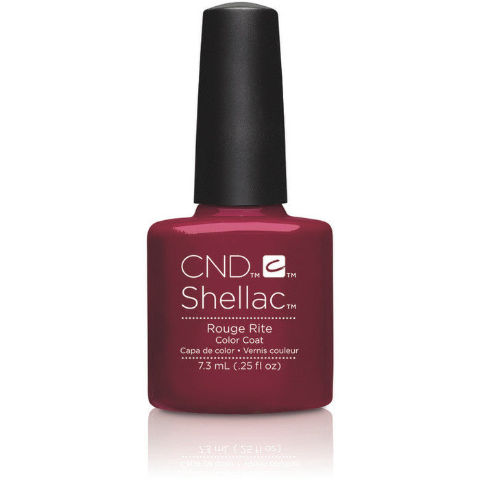 CND Shellac UV Color Coat Rouge Rite 0.25 oz