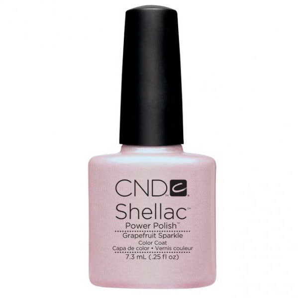 CND Shellac UV Color Coat Gel Nail Polish Grapefruit Sparkle Color 0.25 oz