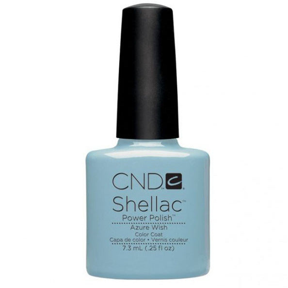 CND Shellac UV Color Coat Gel Nail Polish Azure Wish Color 0.25 oz