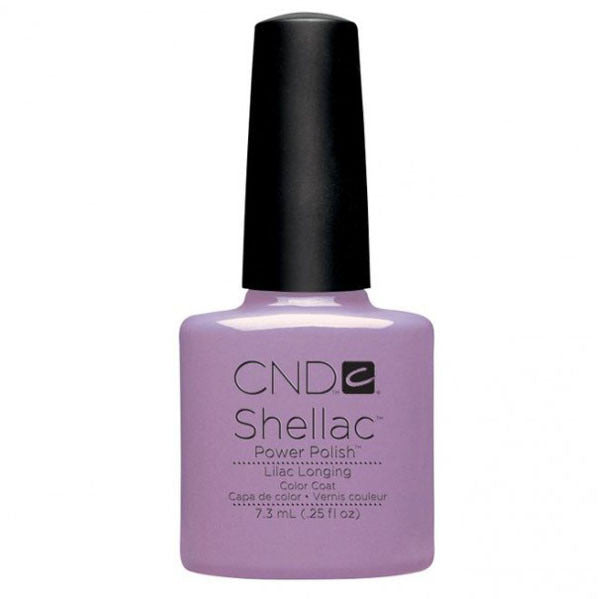 CND Shellac UV Color Coat Gel Nail Polish Lilac Longing Color 0.25 oz