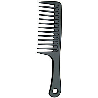 Diane Ionic Extra Wide Handle Comb Black D7113