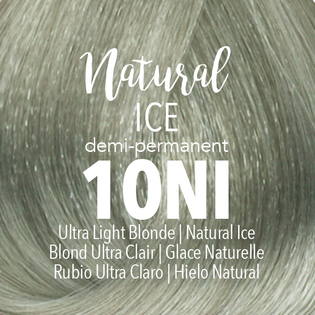 Mydentity Demi-Permanent Haircolor 2 oz Natural Ice 10NI Ultra Light Blonde Swatch