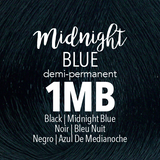 Mydentity Demi-Permanent Haircolor 2 oz Midnight Blue 1MB Black Swatch