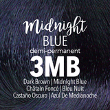 Mydentity Demi-Permanent Haircolor 2 oz Midnight Blue 3MB Dark Brown Swatch