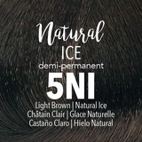 Mydentity Demi-Permanent Haircolor 2 oz Natural Ice 5NI Light Brown Swatch