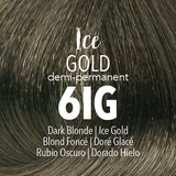 Mydentity Demi-Permanent Haircolor 2 oz Ice Gold 6IG Dark Blonde Swatch