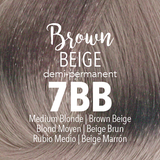 Mydentity Demi-Permanent Haircolor 2 oz Brown Beige 7BB Medium Blonde Swatch