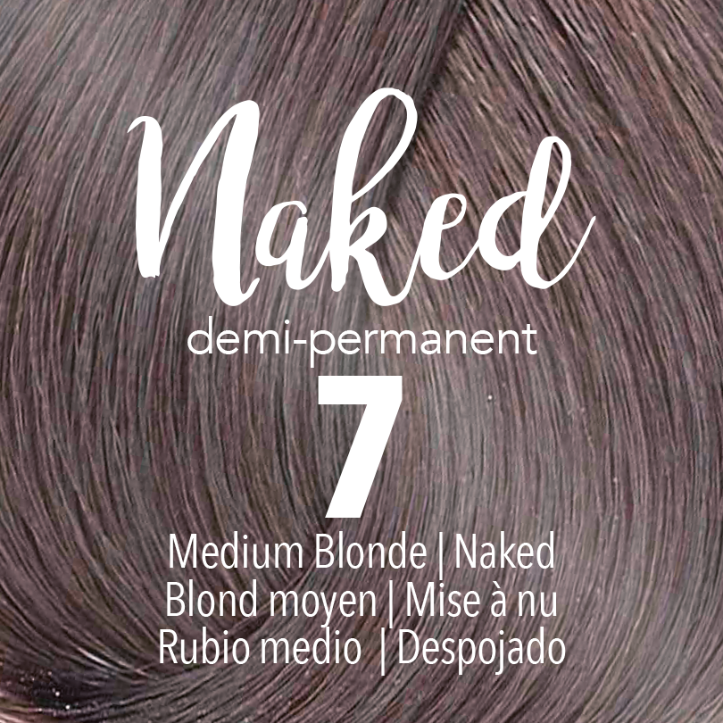Mydentity Naked Collection Demi-Permanent Haircolor 7 Medium Blonde Swatch