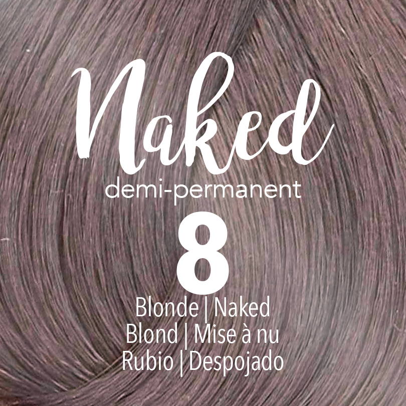 Mydentity Naked Collection Demi-Permanent Haircolor 8 Blonde Swatch