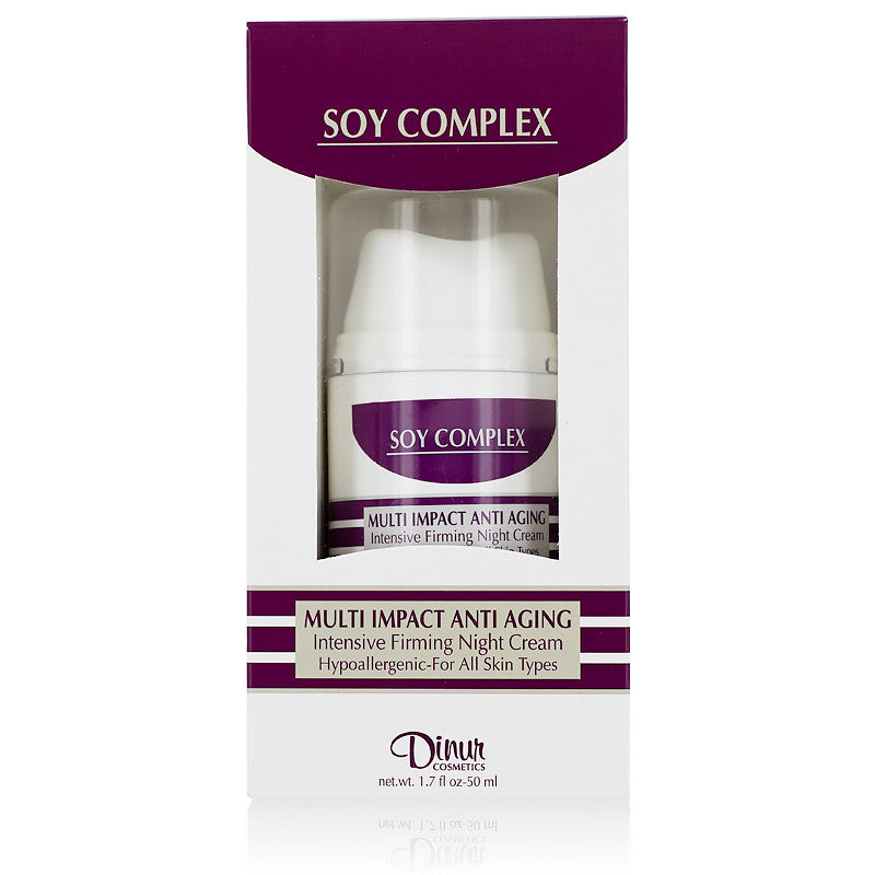 Dinur Soy Complex Multi Impact Anti Aging Firming Night Cream 1.7 oz