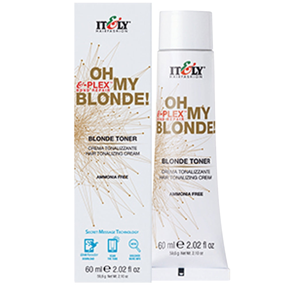 Italy Oh My Blonde E-Plex Bond Repair Blonde Toner Ammonia Free 2.02 oz Toner