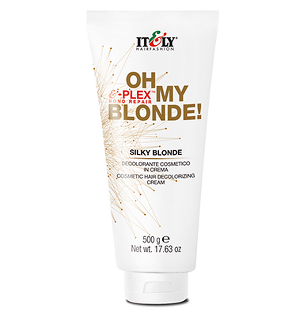Italy Oh My Blonde Silky Blonde Cosmetic Hair Decolorizing Cream E-Plex Bond Repair 17.63 oz