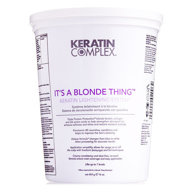 Keratin Complex Color Therapy It's a Blonde Thing Keratin Lightening System Bleach 16 oz