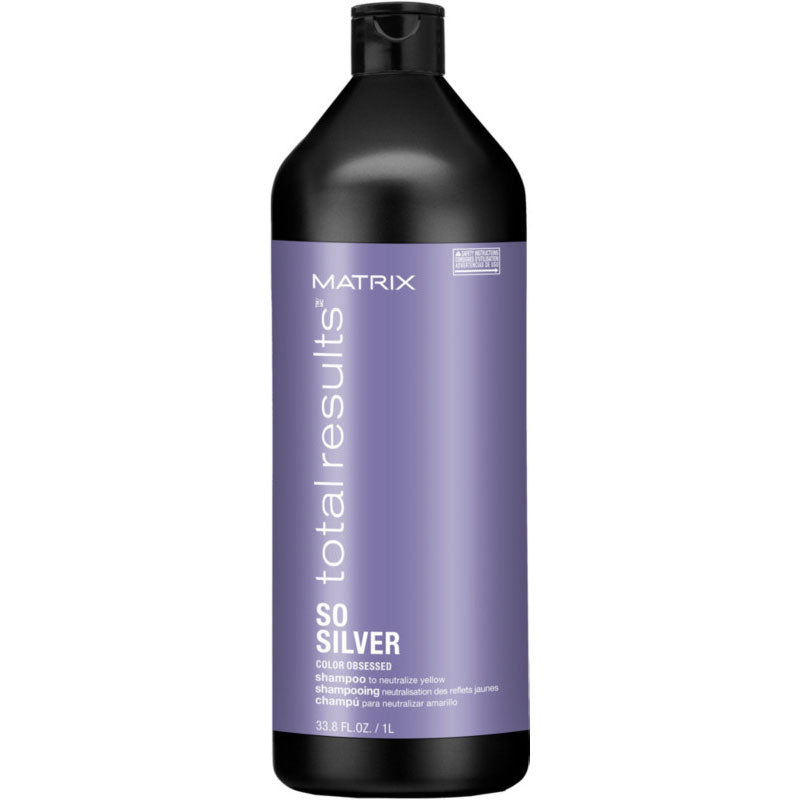 Matrix Total Results Color Obsessed So Silver Shampoo for Blonde and Silver Hair 33.8 oz