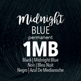 Mydentity Permanent Hair Color 2 oz Midnight Blue 1MB Dark Blonde Swatch