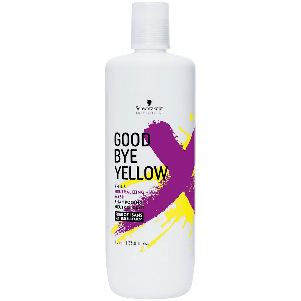 Schwarzkopf Goodbye Yellow Neutralizing Wash Shampoo 33.8 oz