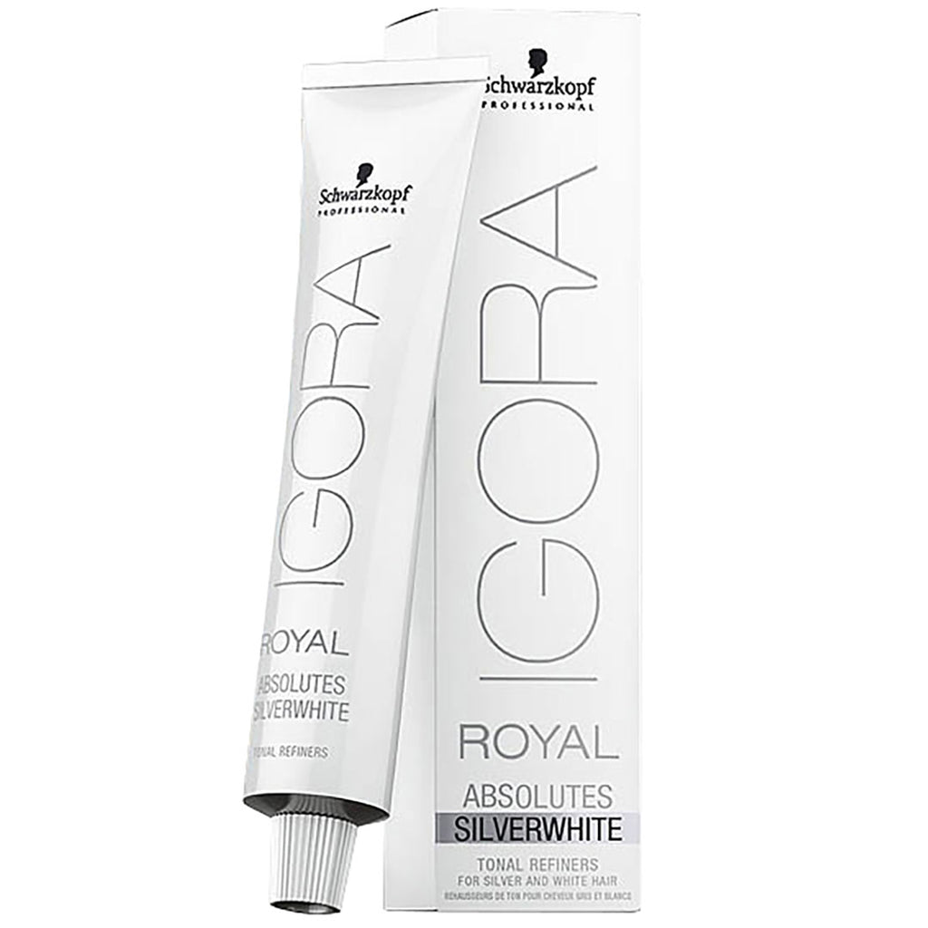 Schwarzkopf Igora Royal Absolutes Silverwhite Tonal Refiners For White Hair Demi-Permanent 2.1 oz