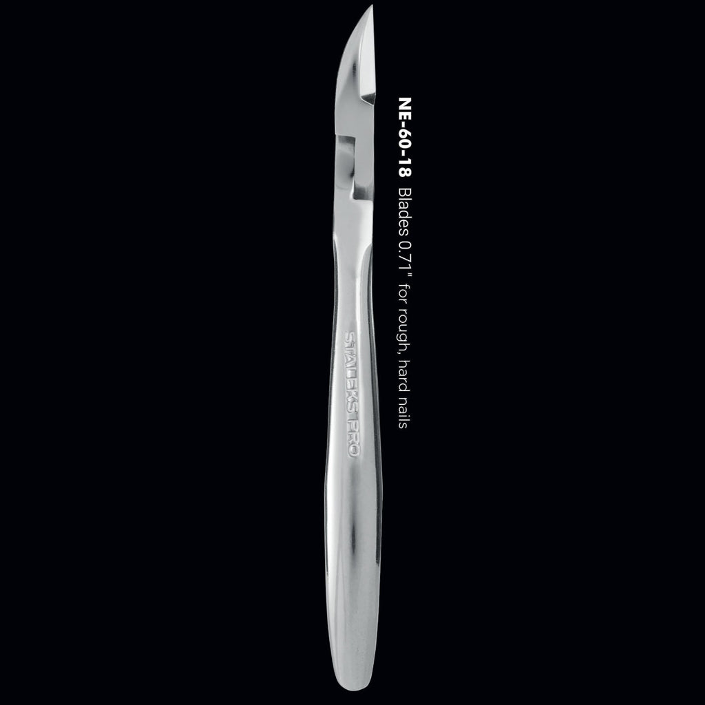 Staleks Pro Expert 60 NE-60-18 Professional Nail Nippers 5.52 Inch 18 mm Side View
