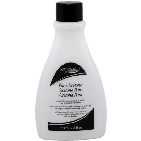 SuperNail Pure Acetone Polish Remover 4 oz