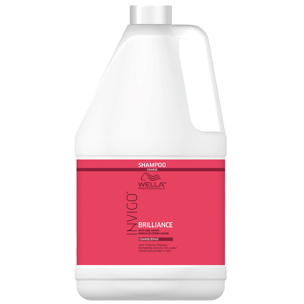 Wella Invigo Brilliance Color Protection Shampoo for Coarse Hair 1 Gallon