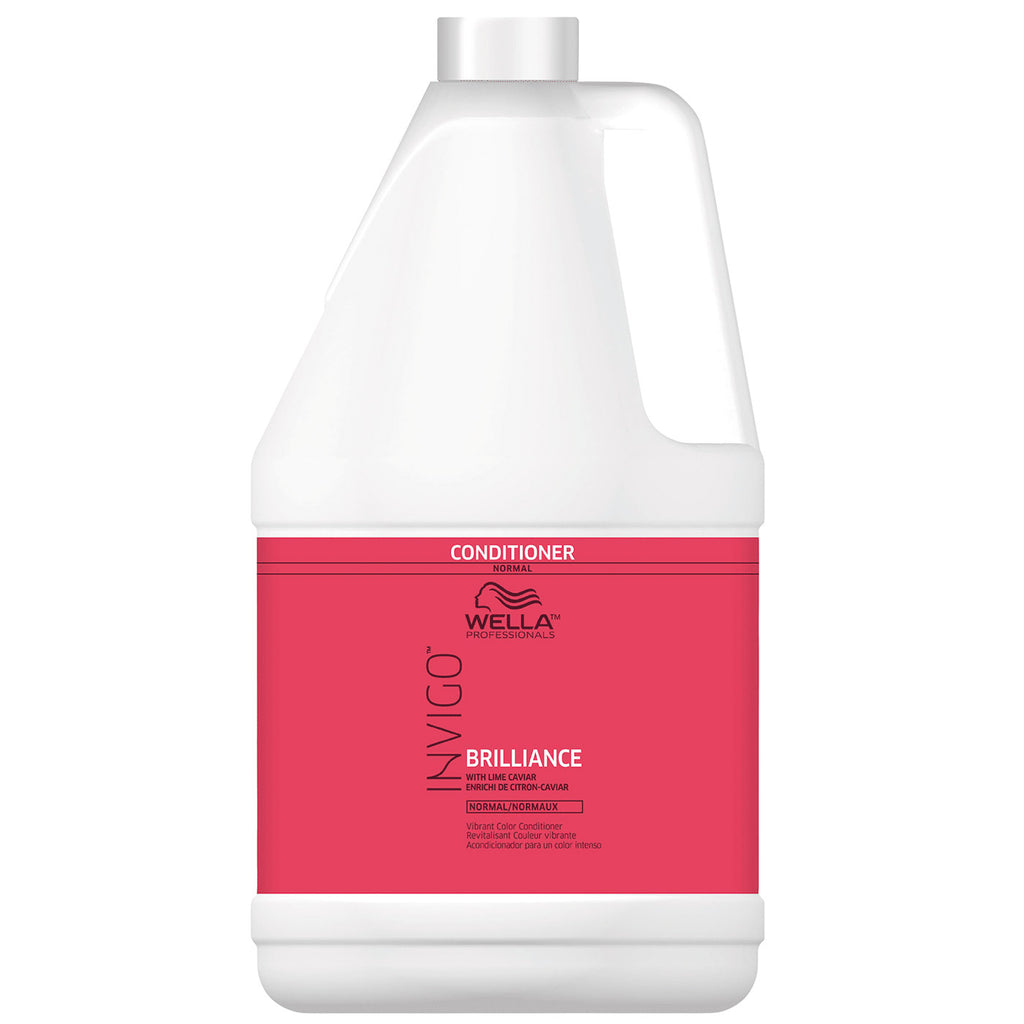 Wella Invigo Brilliance Vibrant Color Conditioner for Fine to Normal Hair 1 Gallon