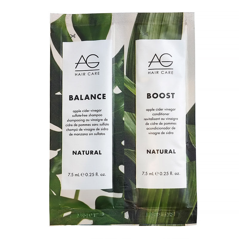 AG Hair Care Natural Balance Shampoo and Boost Conditioner Sample Set