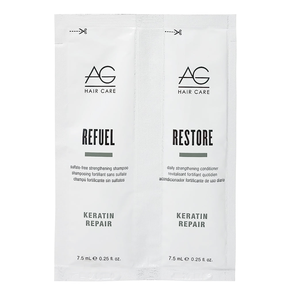 AG Keratin Repair Refuel Shampoo and Restore Conditioner Sample