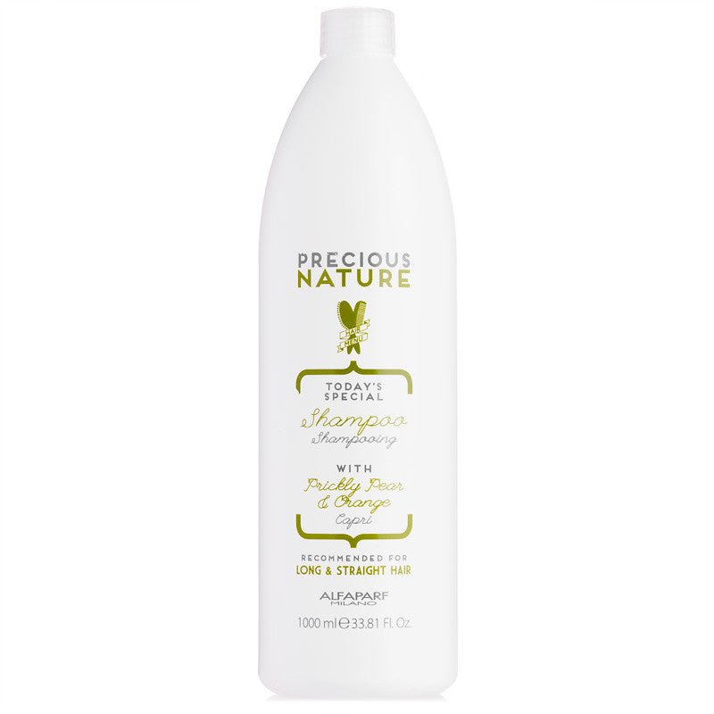 Alfaparf Milano Precious Nature Shampoo with Prickly Pear & Orange for Long & Straight Hair 33.8 oz
