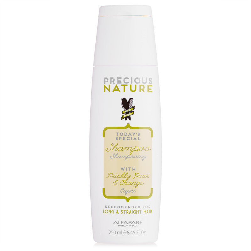 Alfaparf Precious Nature Shampoo for Long & Straight Hair with Prickly Pear & Orange, 8.45 oz