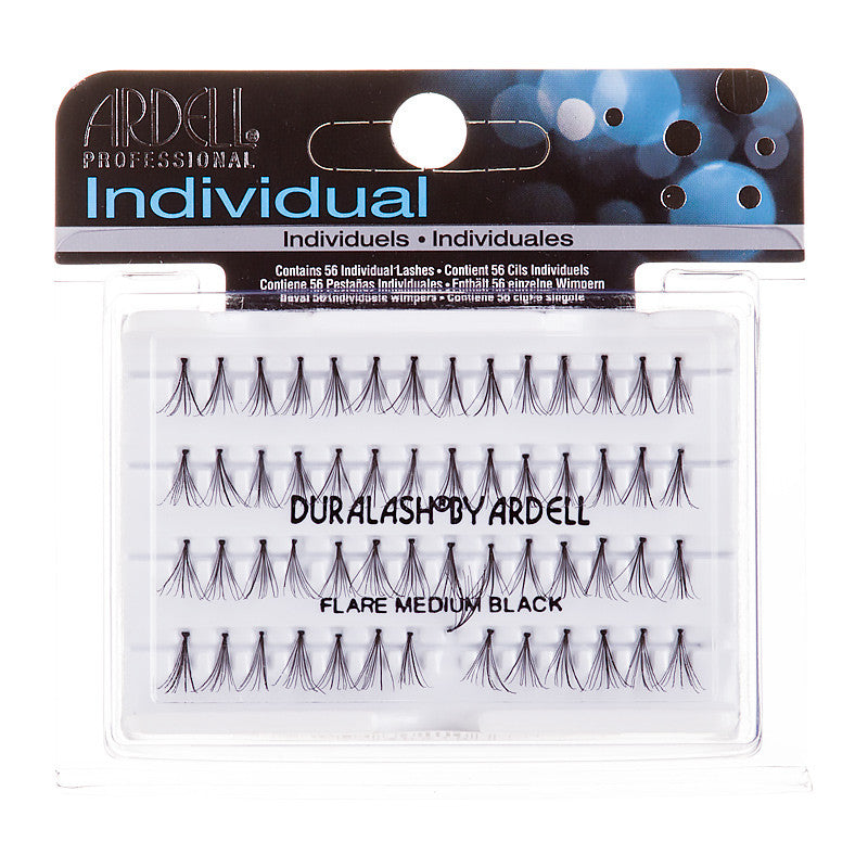 Ardell Professional Individual Duralash Flare Medium Black 56 Individual Lashes