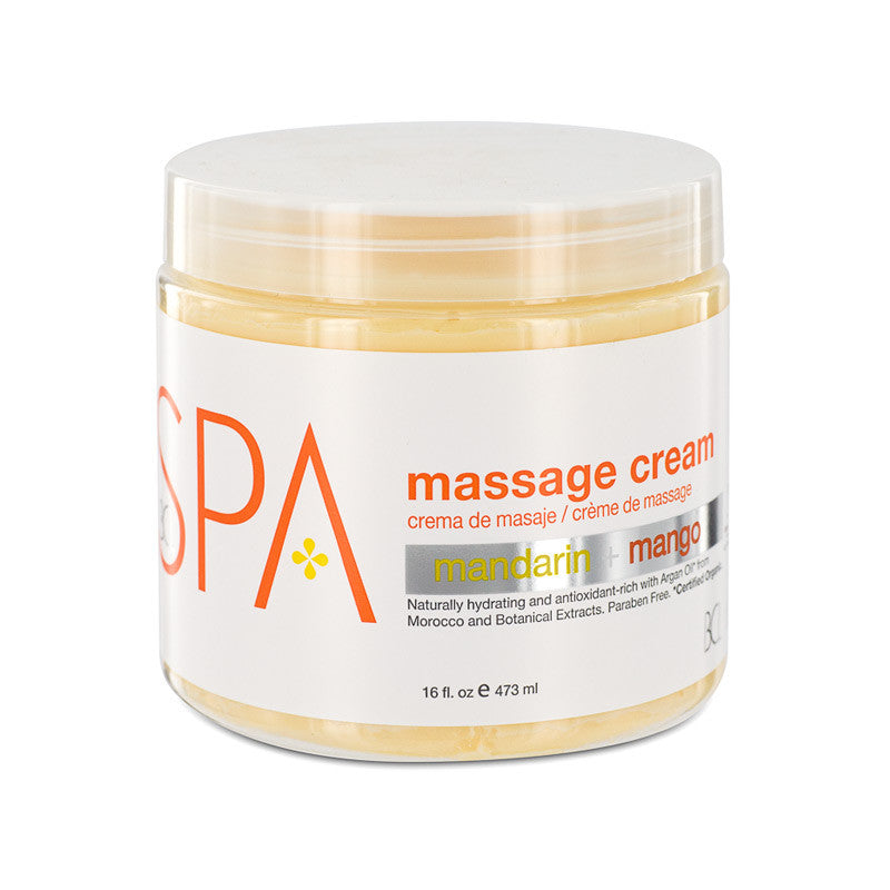 Bcl Spa Massage Cream Mandarin + Mango 16 oz