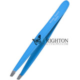 Body Toolz Bright Neon Slant Tweezer Electric Blue