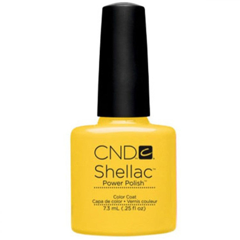 CND Shellac UV Color Coat, Bicycle Yellow 0.25 oz