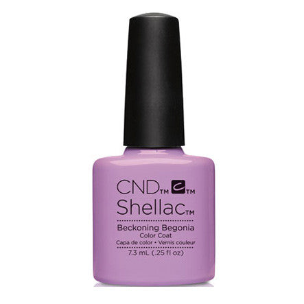 CND Shellac Beckoning Begonia Gel Polish 0.25 fl. oz.