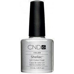 CND Shellac UV Color Coat Gel Nail Polish Silver Chrome Color 0.25 oz