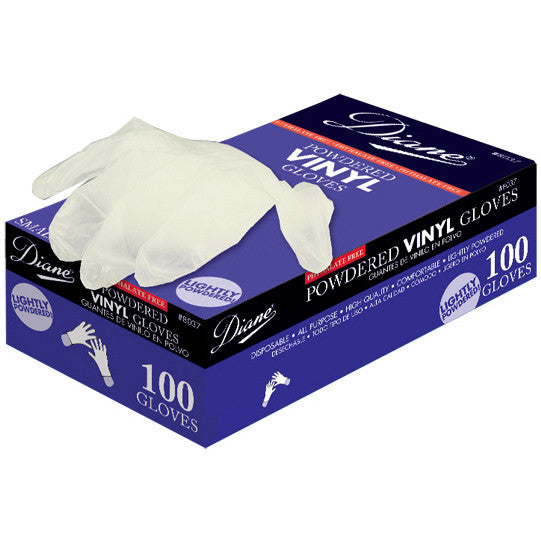 Diane Powdered Vinyl Glove Small 100 Gloves, D8015