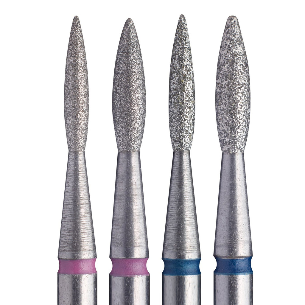 "Staleks Diamond Nail Drill Bit FA10 Pointed ""Flame"" 6 pcs set"