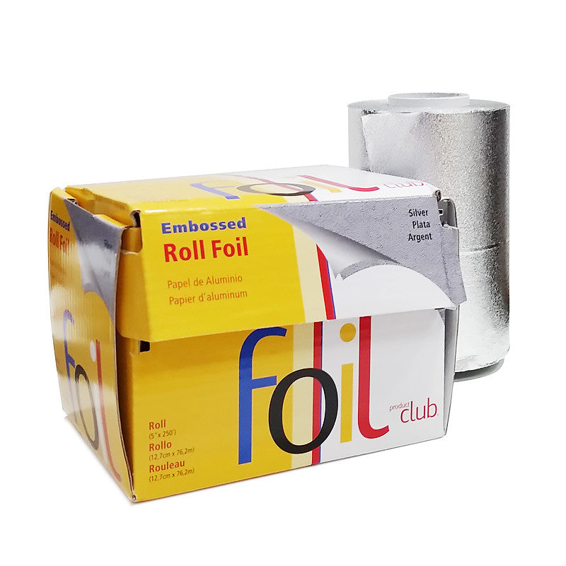 Product Club Embossed Silver Foil Roll 5 Inches x 250 Feet RFE-250S