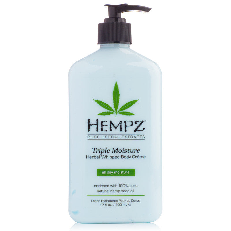Hempz Triple Moisture Herbal Whipped Body Creme 17 oz