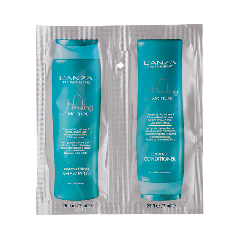 Lanza Tamanu Cream Shampoo & Kukui Nut Conditioner Sample