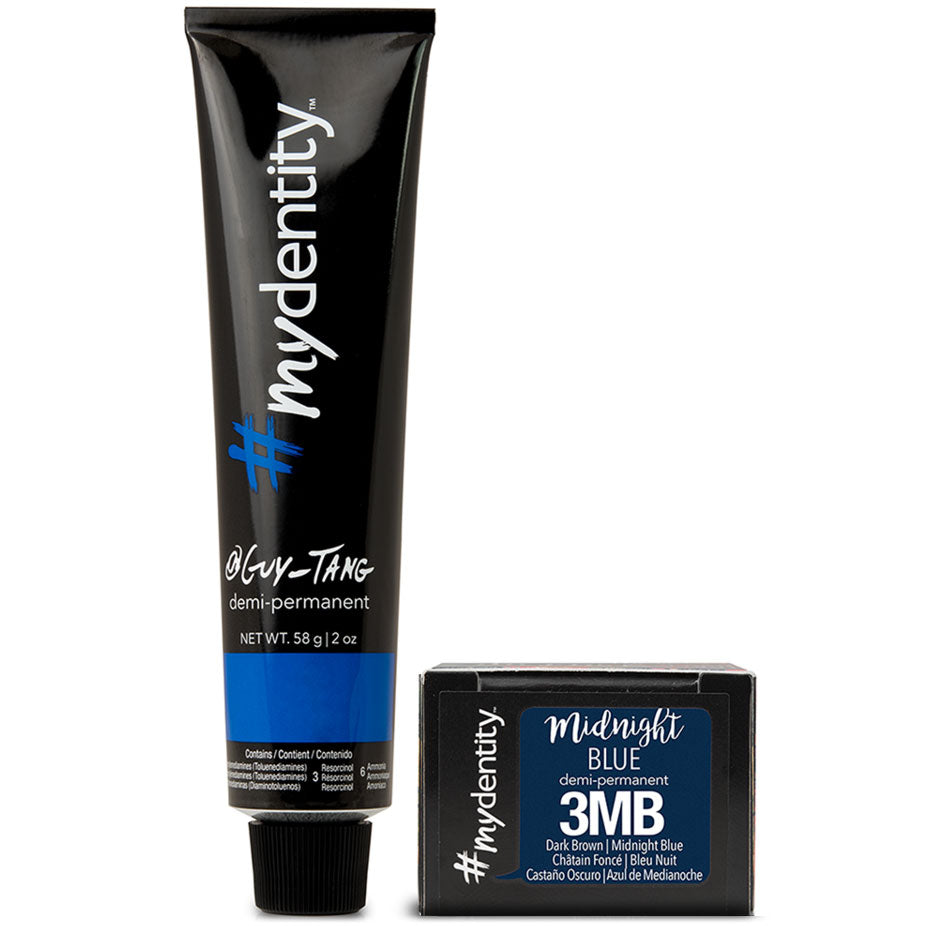 Mydentity Demi-Permanent Haircolor 2 oz Midnight Blue 3MB Dark Brown