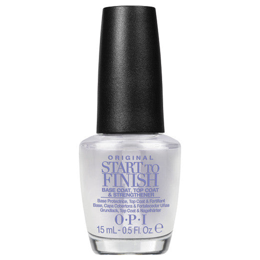 OPI Start to Finish Base Coat, Top Coat & Strengthener 0.5 oz