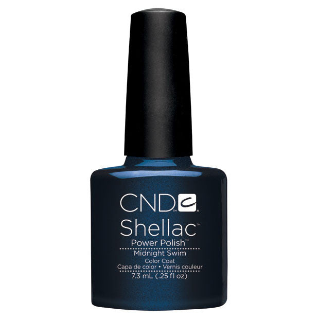 CND Shellac UV Color Coat Gel Nail Polish Midnight Swim Color 0.25 oz