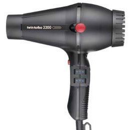 Turbo Power Twin Turbo 3200 Ceramic and Ionic Dryer Black 323A FREE SHIPPING