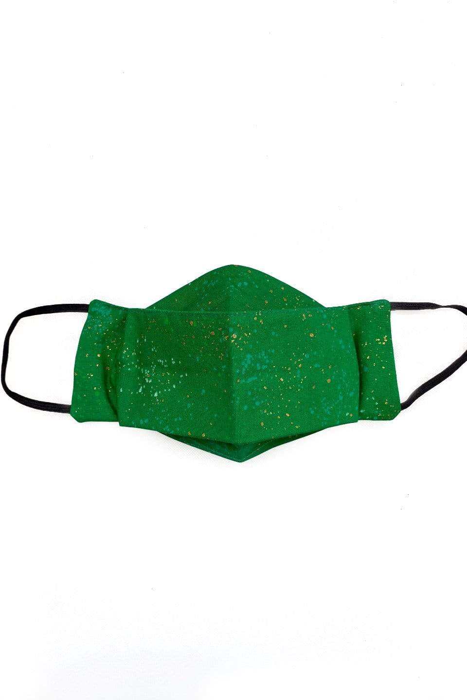 DCD ACCESSORIES Happy Dots Green (Box Pleated Mask With Filter Pocket)