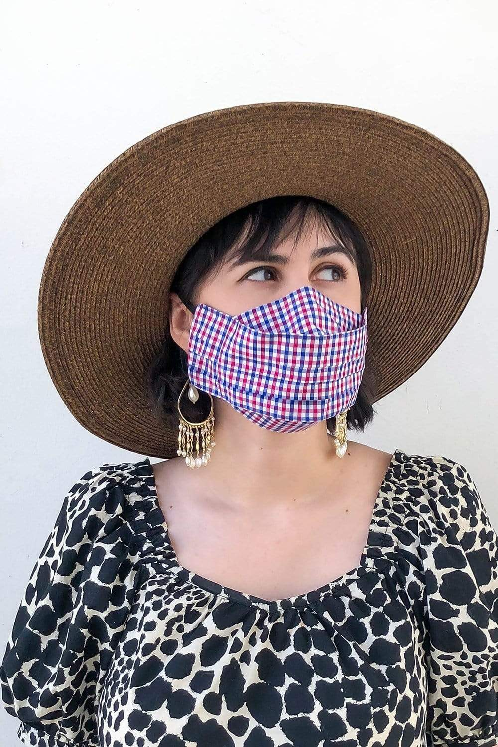Box Pleated Face Mask Japanese Garden Box Pleated Mask (with Filter Pocket) - Chloe Dao