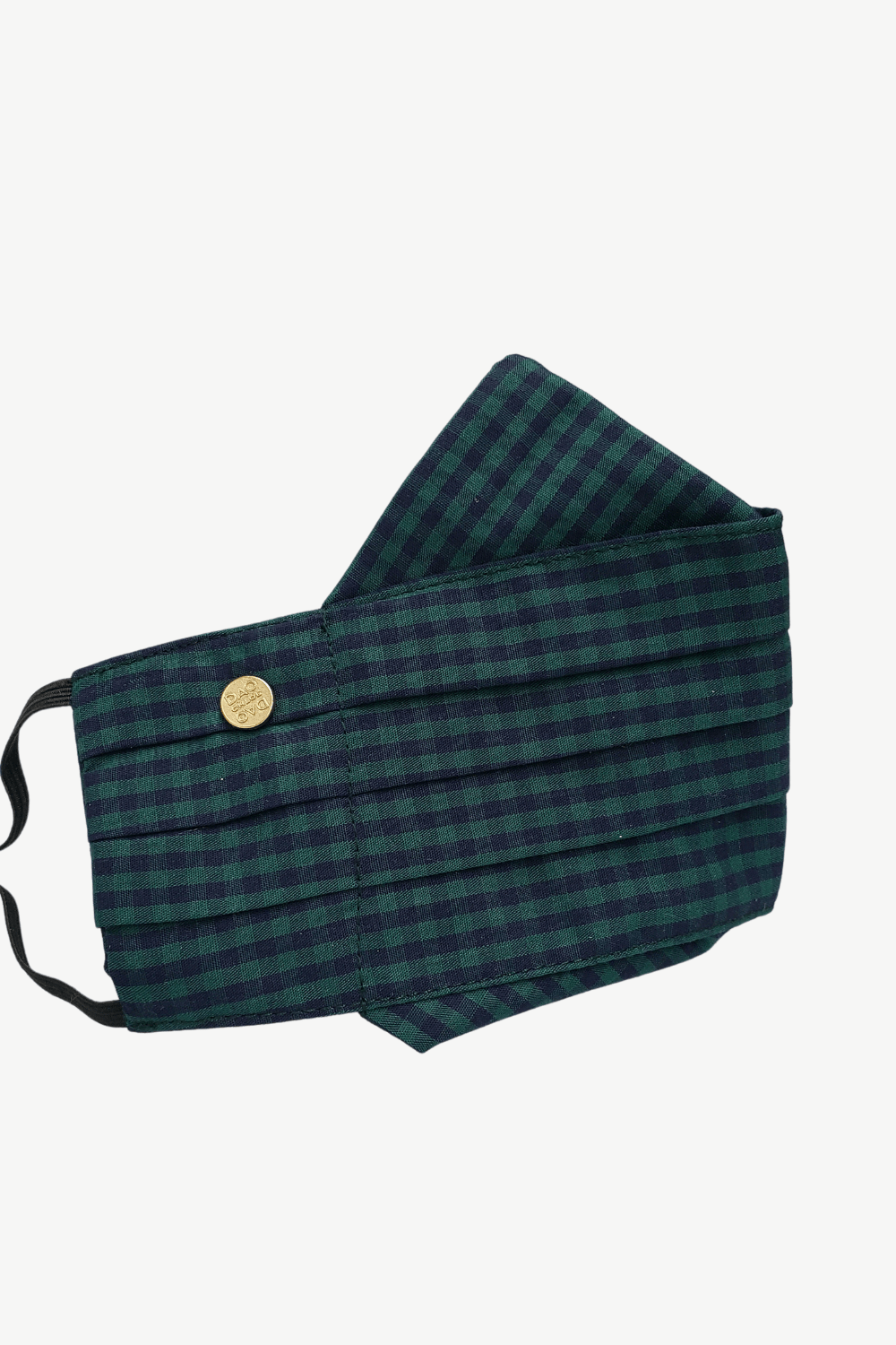 Safely Sip Face Mask Safely Sip Mask in Emerald Green Gingham - Chloe Dao