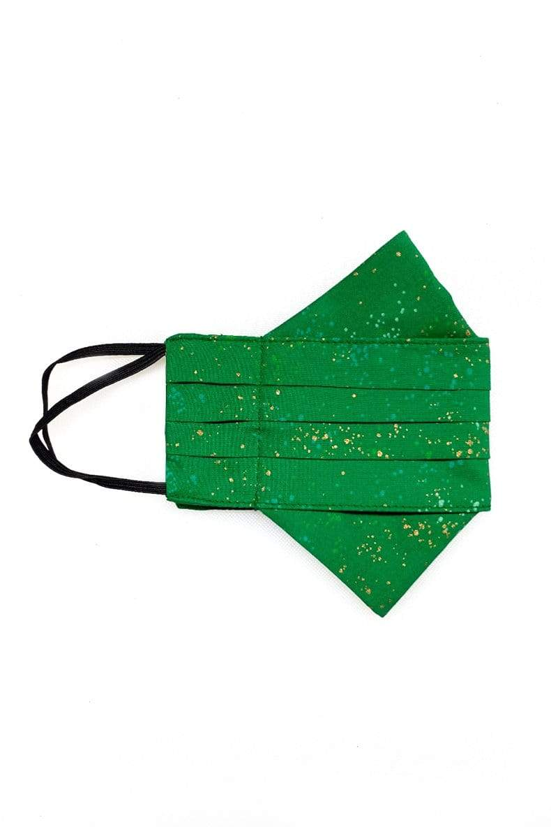 DCD ACCESSORIES Safely Sip Mask in Happy Dots Green